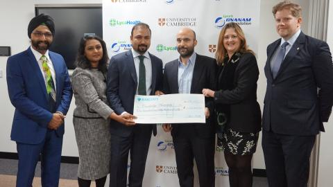 LycaHealth cheque
