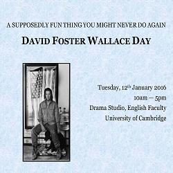 A supposedly fun thing you might never do again: English Faculty holds David Foster Wallace Day