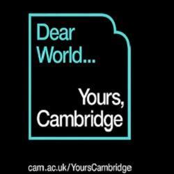 Dear World...Cambridge launches new fundraising campaign